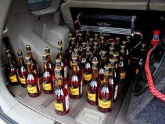 Как штрафуют на 5000 рублей за несколько бутылок спиртного в машине